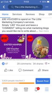 Facebook prizedraw